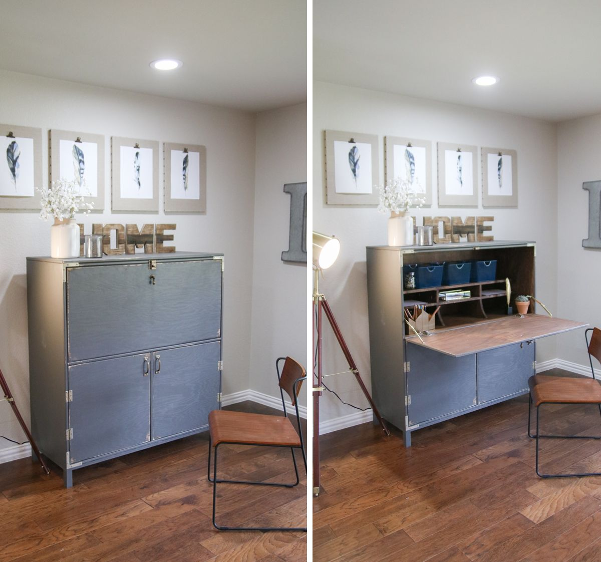 DIY Flip Top Secretary Desk as seen on HGTV Open Concept ...