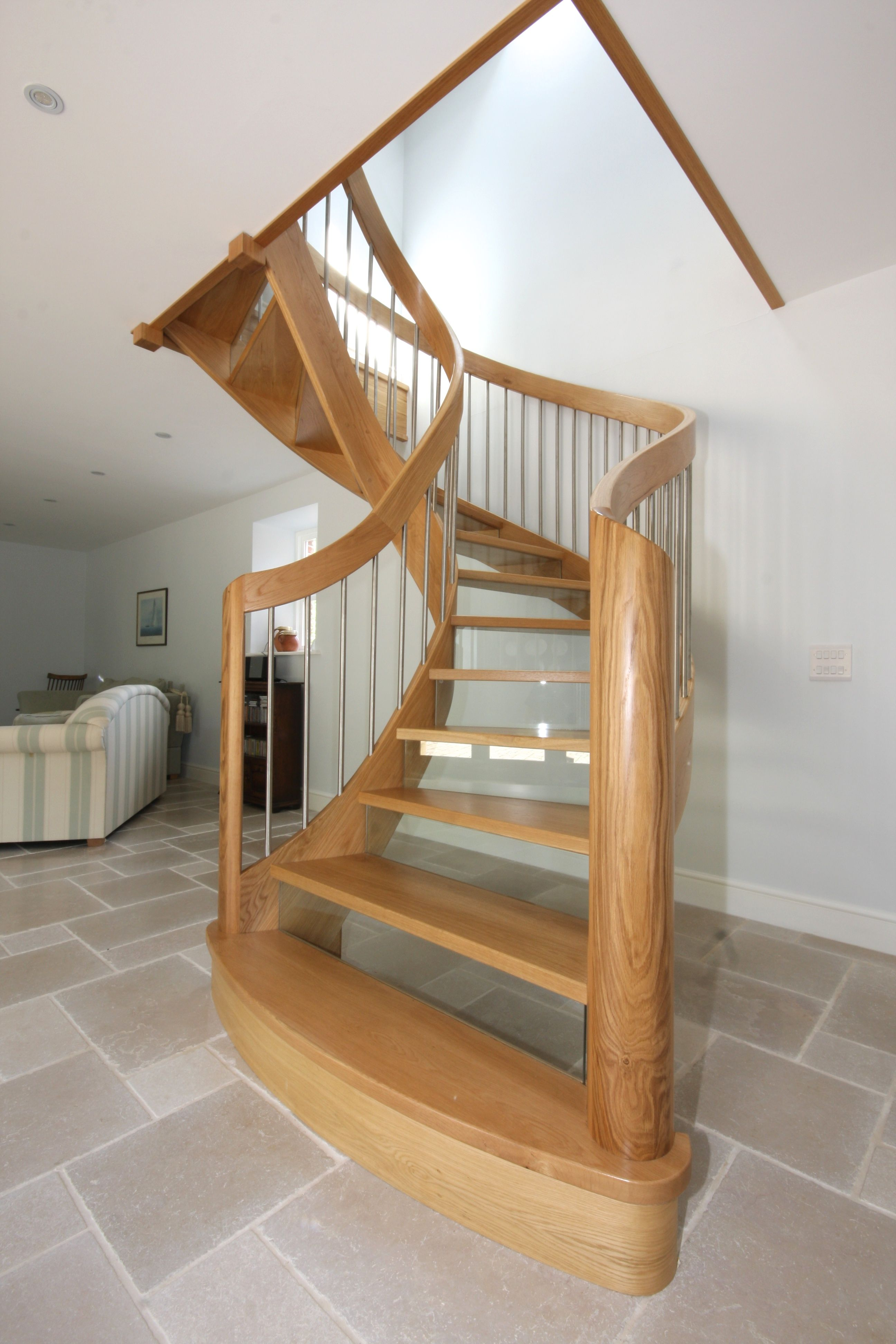 Best Beautiful Curved Wooden Staircase In 2019 Self Build 400 x 300