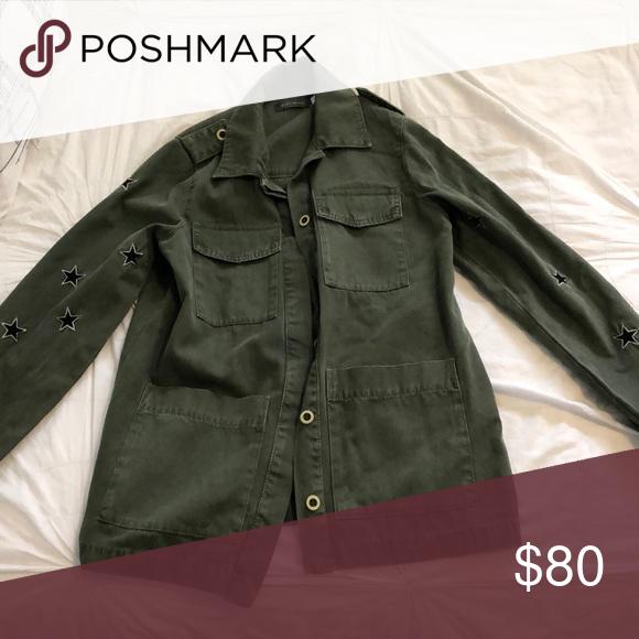 ad27302deb11d mint velvet green camo jacket Barely worn! Bought in England, size 10 ( US  8), fits medium mint velvet Jackets & Coats Jean Jackets