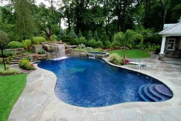 Entzuckend Effektvolle Poolgestaltung Im Garten   Archzine.net