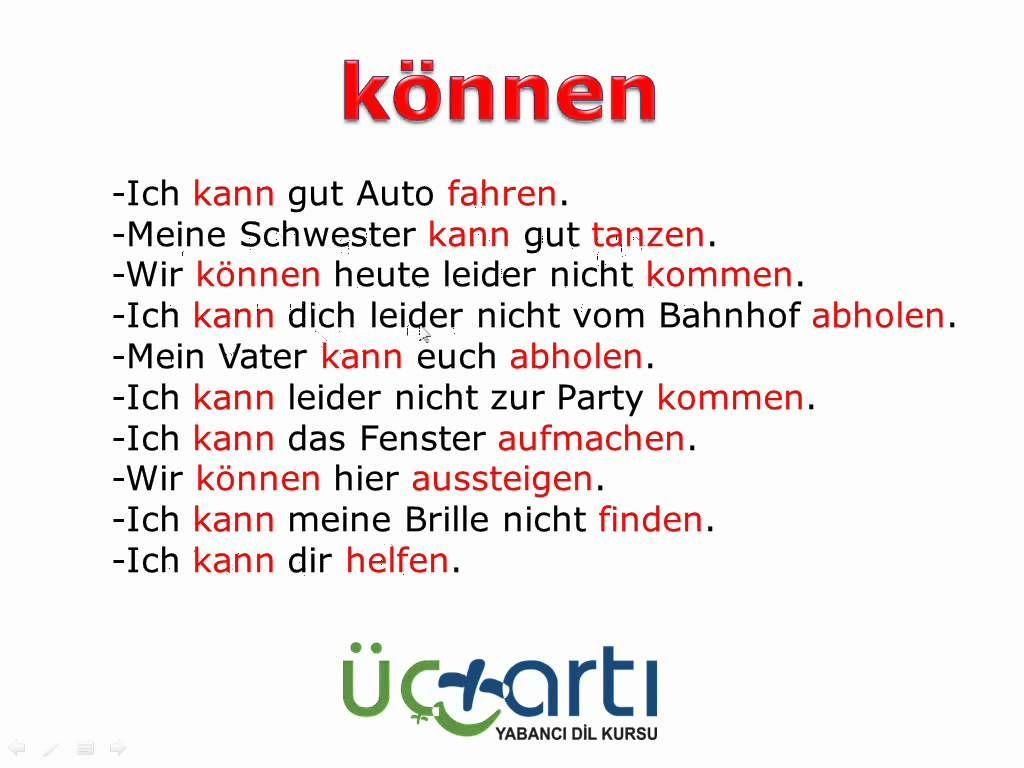 Konnen Fur Fahigkeiten German Language German Grammar German Language Learning