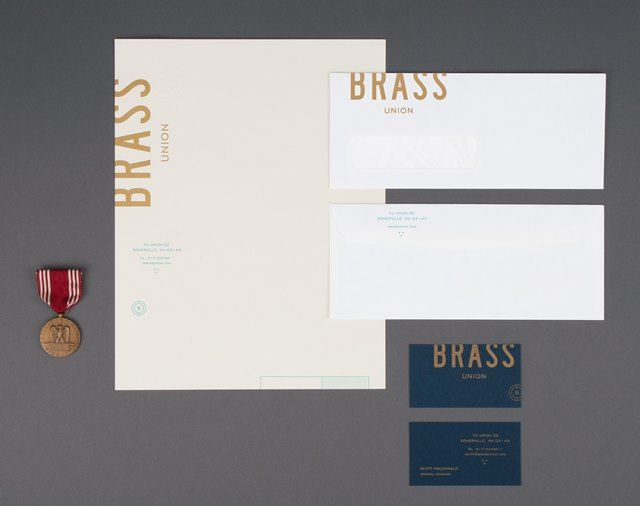 Finding The Paper Brass Union Stationery Business Business Cards