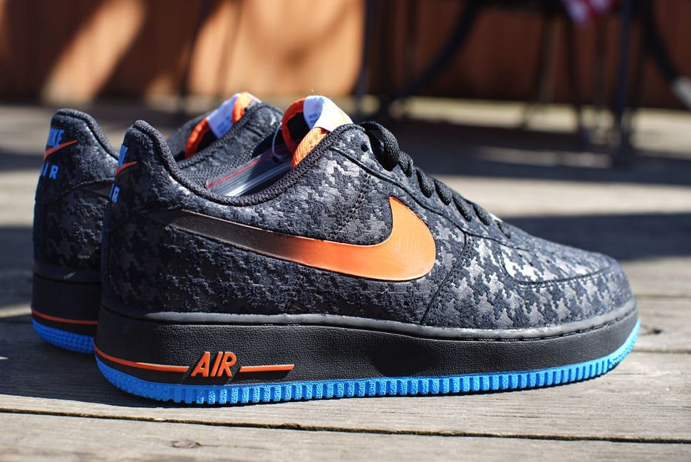 new arrival 26acf c948e Nike Air Force 1 Low  Houndstooth  (Black, Orange   Blue) - EU Kicks   Sneaker Magazine
