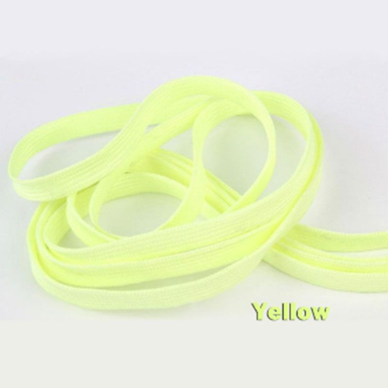 Yellow 120CM Luminous Glow In The Dark Shoelace Athletic Sport Shoe Laces #4
