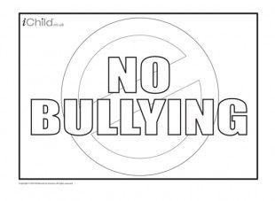 print off this anti bullying poster for your child to colour in and decorate and