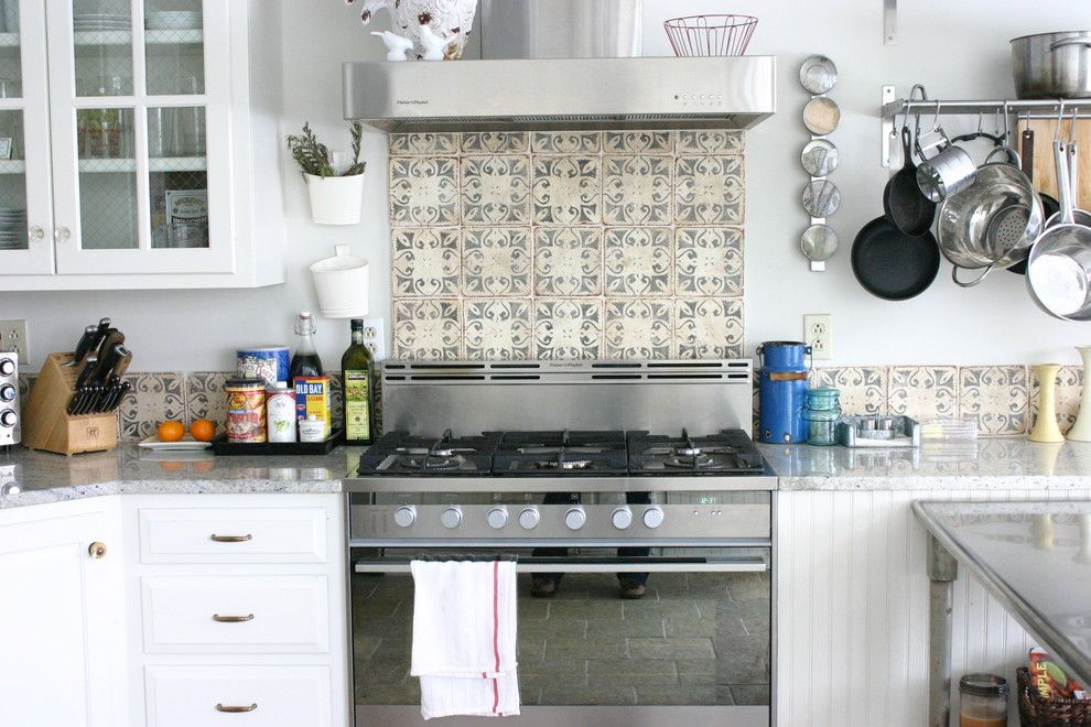 Decorative Tile Backsplash Kitchen Kitchenlab  Eclectic  Kitchen  Other Metro  Rebekah Zaveloff