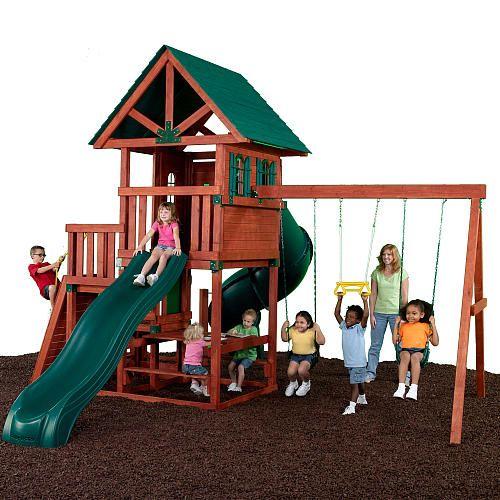 "Southampton Wood Swing Set - Swing-N-Slide - Toys ""R"" Us"