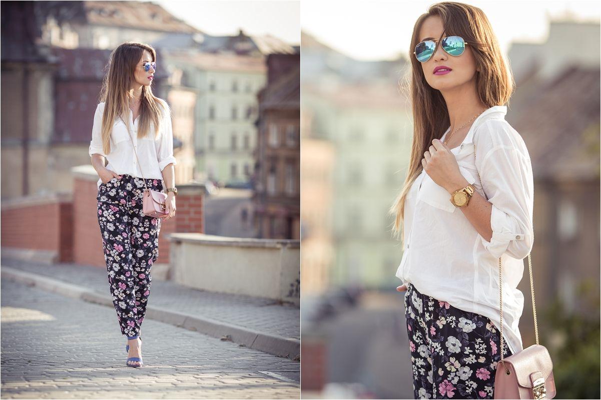 Z Czym Nosic Spodnie W Kwiaty Floral Pants Outfit Ideas Floral Pants Outfit Classic Outfits Floral Pants