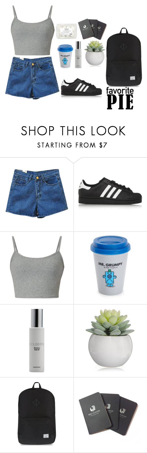 """""""beach"""" by iuliana-1 ❤ liked on Polyvore featuring Retrò, adidas Originals, Wild & Wolf, Colbert MD, Herschel Supply Co., Red Clouds Collective and job"""