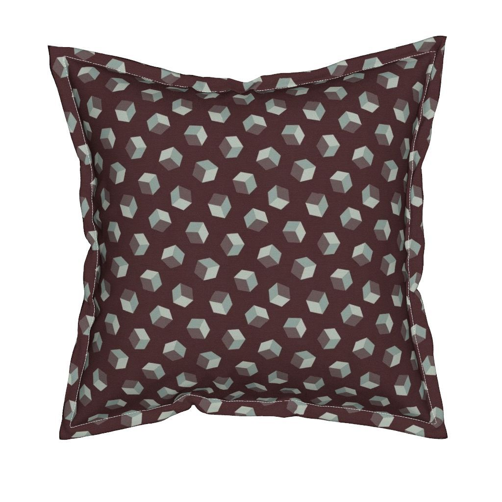 Serama Throw Pillow featuring Storm of Cubes by Cheerful Madness!! by…