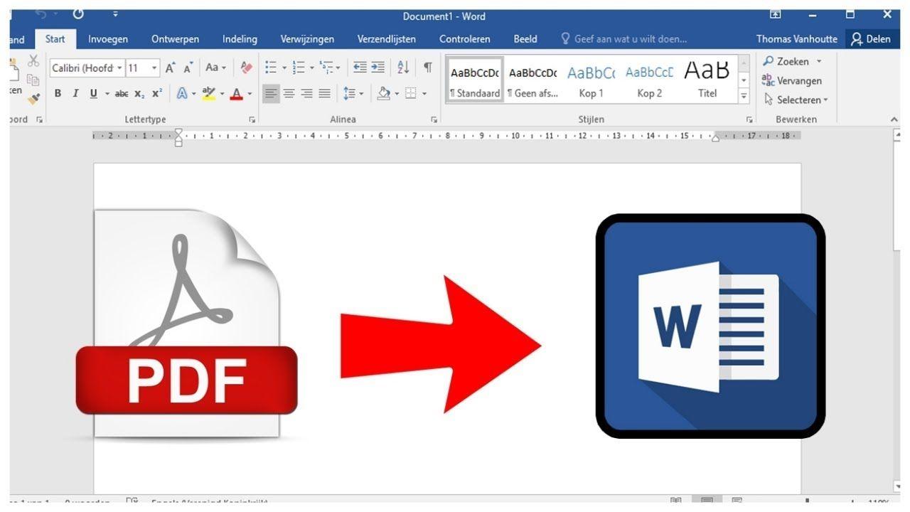 Tutorial Windows Cara Konversi Pdf Menjadi Word Tanpa Software Di Pc