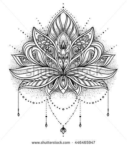 Lotus Flower Mandala Design Tattoos Tatou