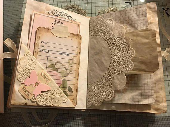 Handmade Vintage Journal Junk Journals Pinterest