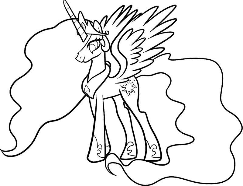 Celestia My Little Pony Coloring Page My Little Pony My Pony Coloring Pages Princess Celestia Baby Printable
