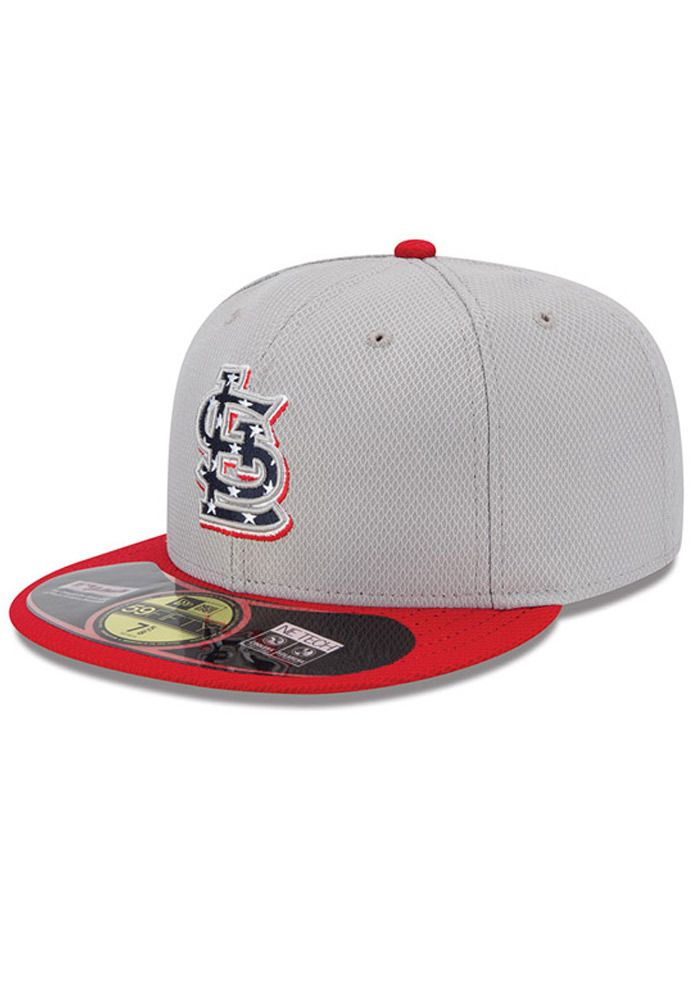 0bb6afd8af8 St. Louis Cardinals New Era Mens Grey 2013 Stars and Stripes 59Fifty http