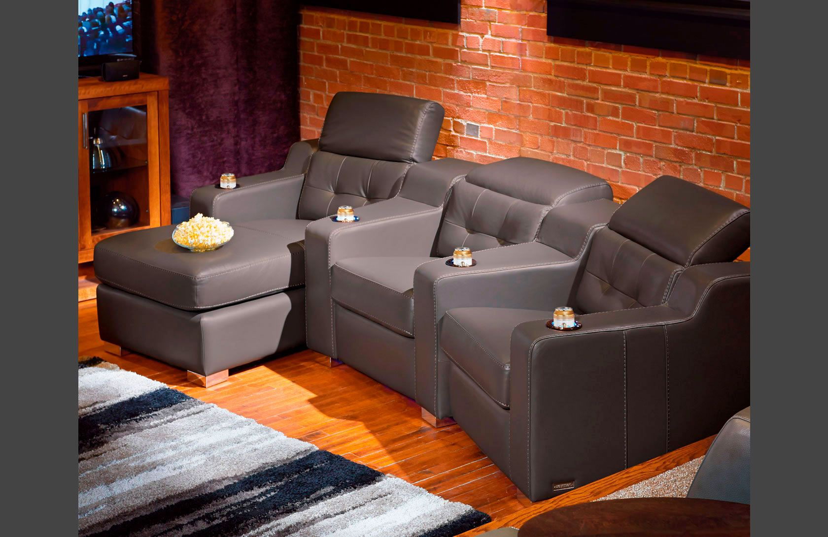 Sectional Home Theater Corrado Contemporary Style