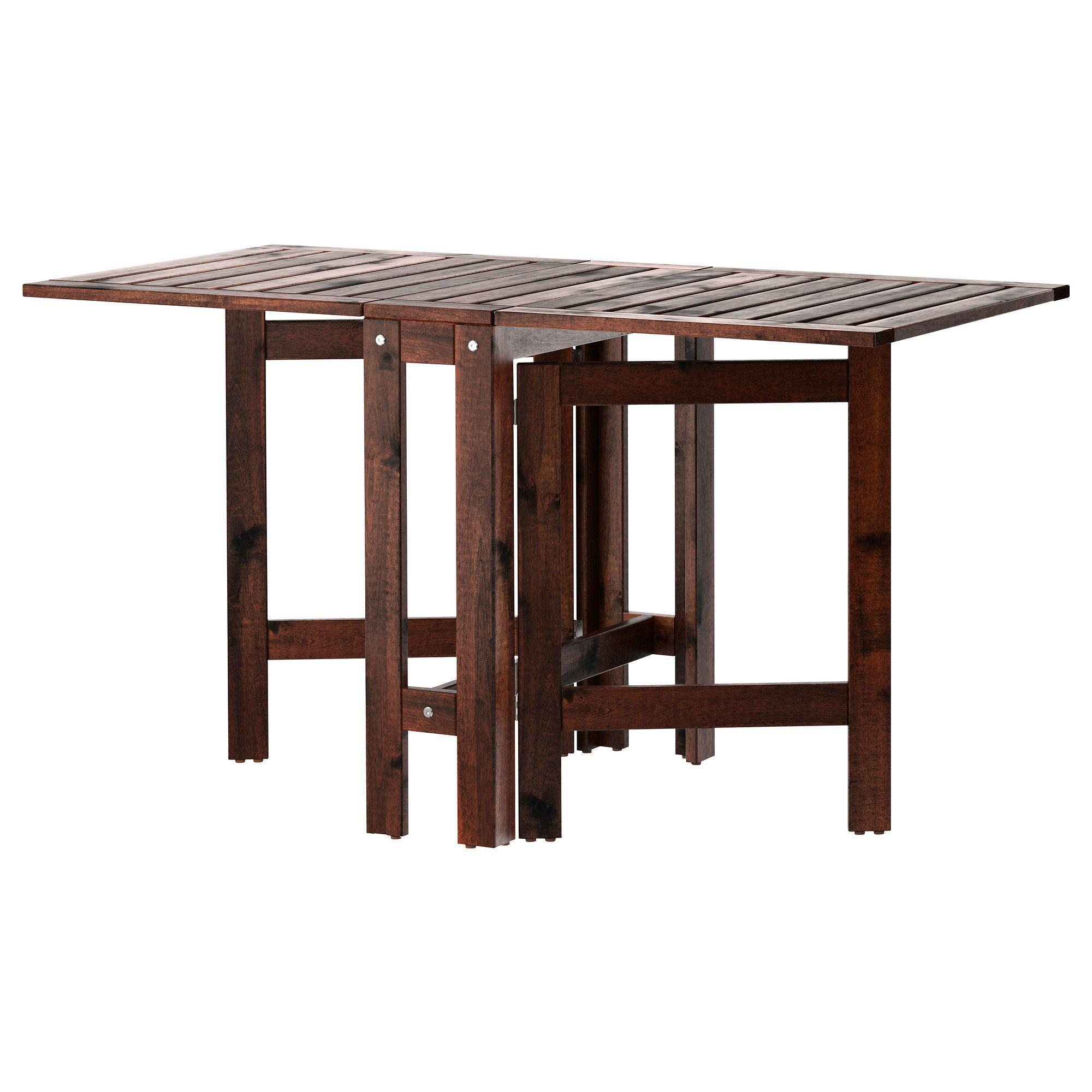 Pplar Table Pliante Ext Rieur Brun Teint Brun Table Pliante