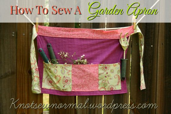 How To Sew An Apron - A Gardening Apron Tutorial by Knot Sew Normal