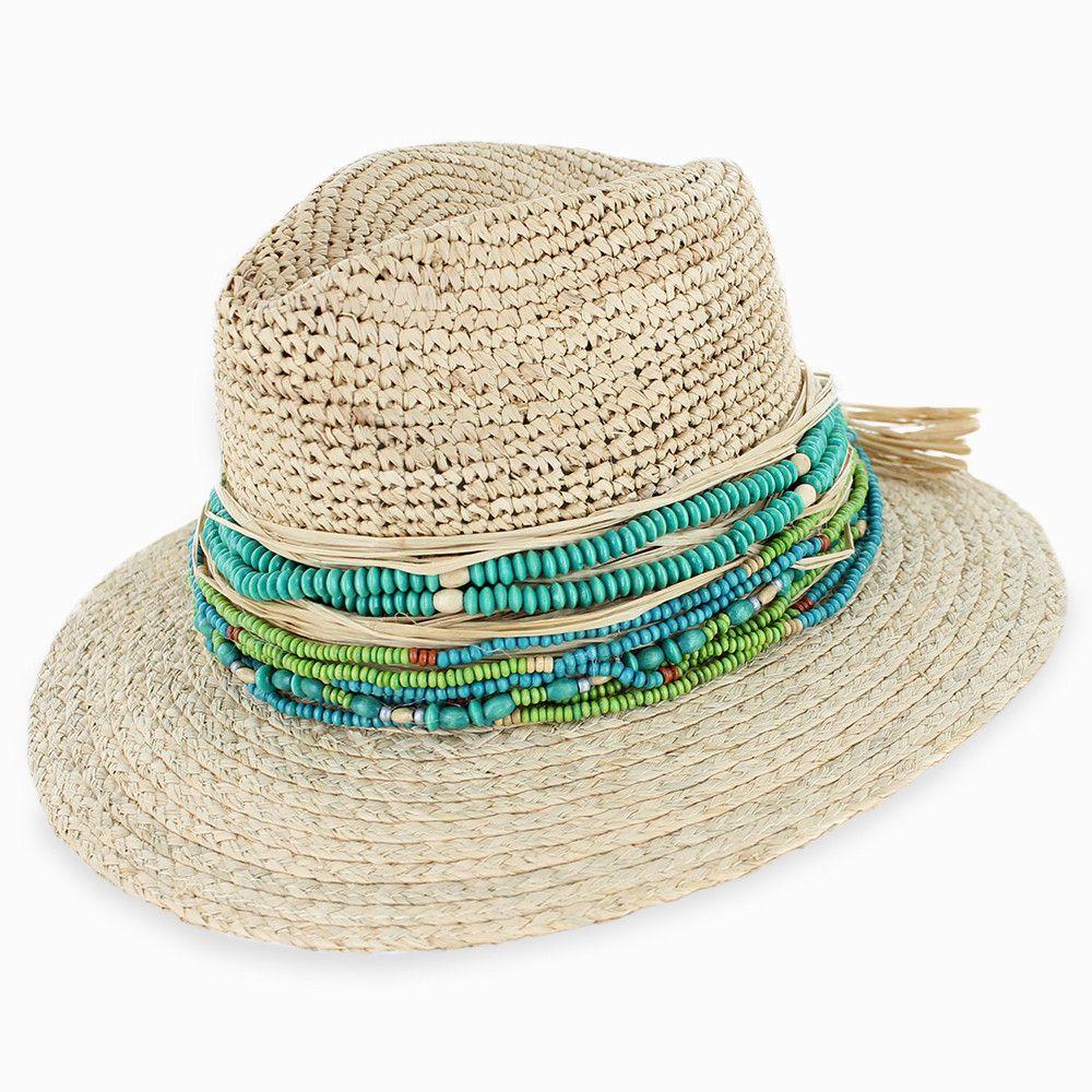 0518c4267daca Belfry Catalina - Crochet Raffia Fedora