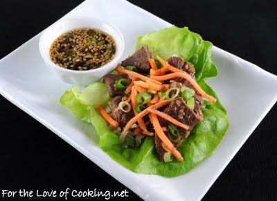 Wednesday For the Love of Cooking » Sesame Beef Lettuce Wraps