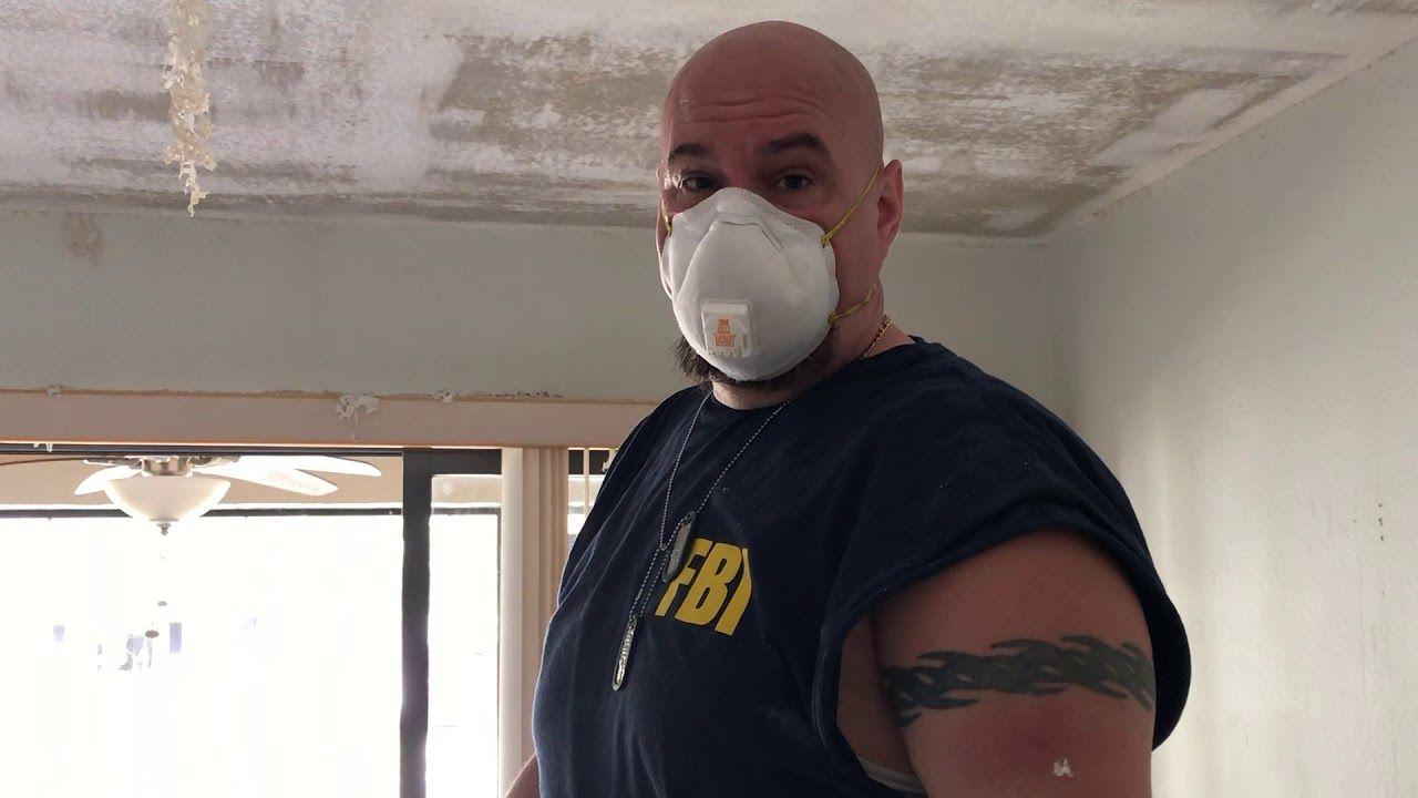 Easy DIY Popcorn Ceiling Removal in 2020 Popcorn ceiling