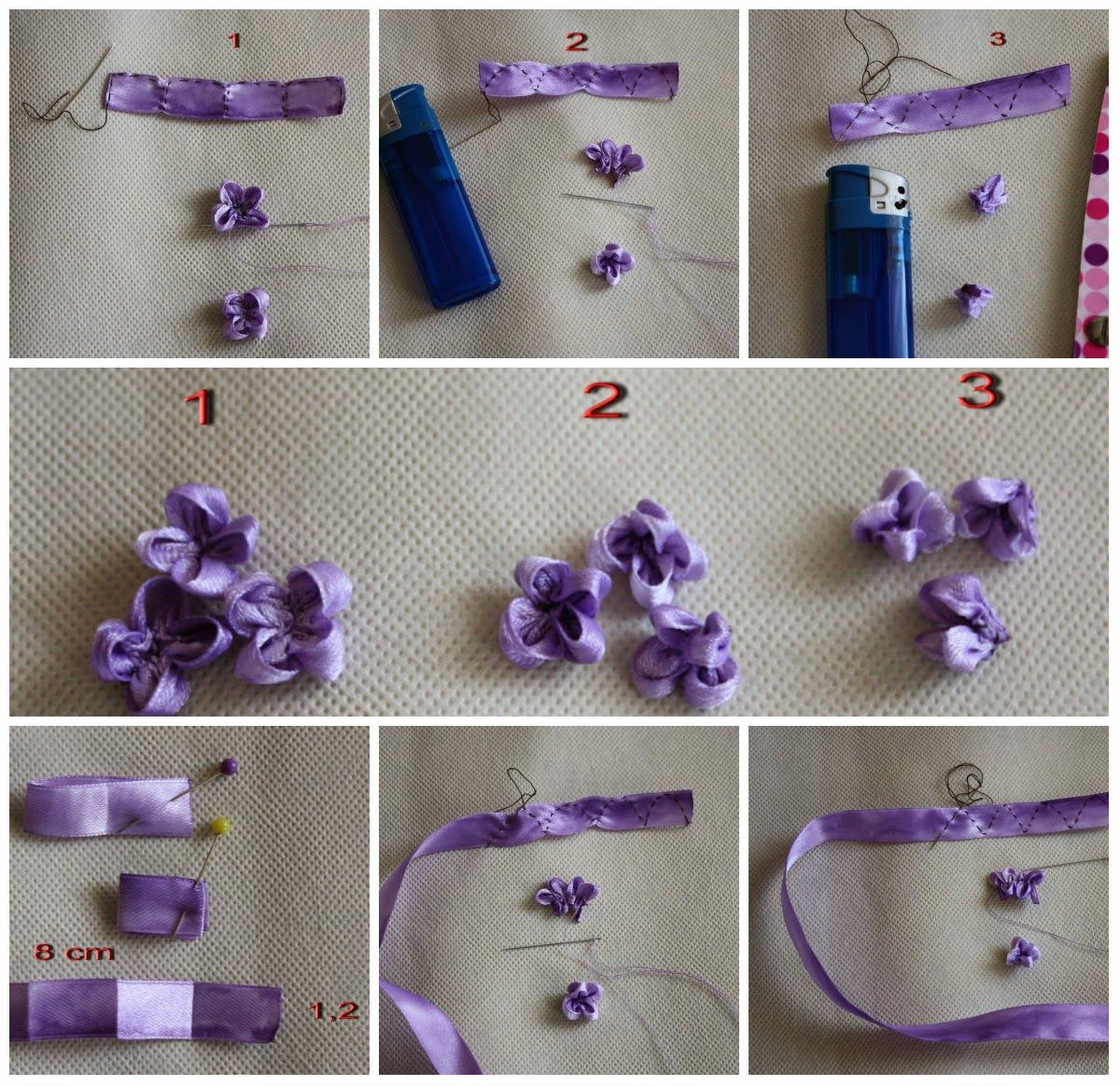 Tutorial Of Ribbon Embroidery Embroidery Ribbon Pinterest
