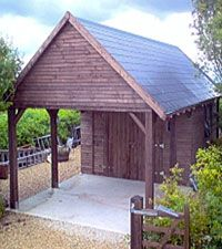Timber Frame Garages U0026 Wooden Carports Manufactured Using Prefabricated  Wooden Sections.