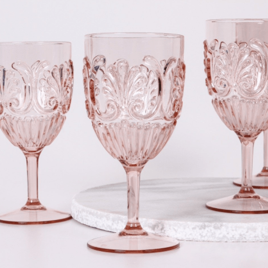 Custom Made Decor Service In 2020 Pink Wine Glasses Acrylic
