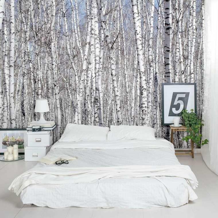 id u00e9e d u00e9co chambre coucher papier peint tendance