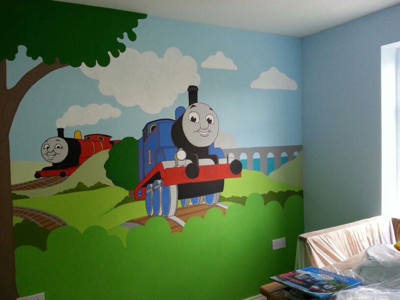 Thomas the tank engine mural by me wwwfacebookcomJJmurals