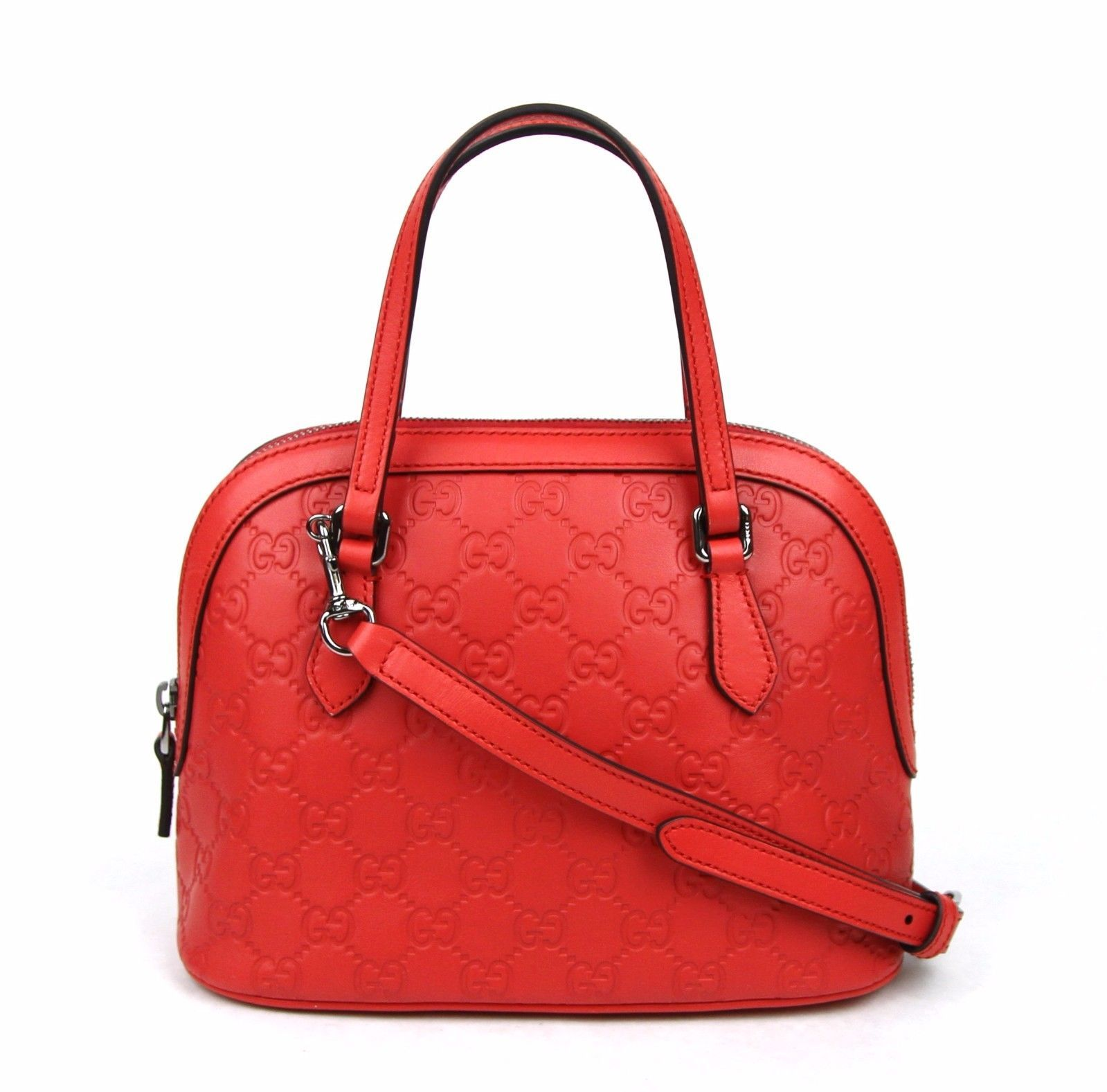 f68c7224 Gucci Convertible Guccissima Crossbody Mini Dome Purse Red ...