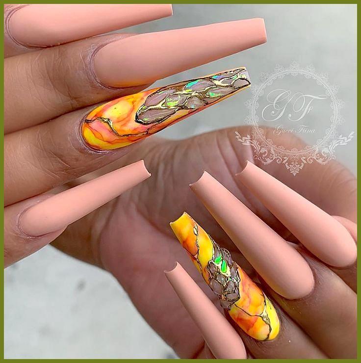 78 Heetste stijlvolle acryl doodskist nagels lange ontwerpen voor zomer nagel kleur – pagina …