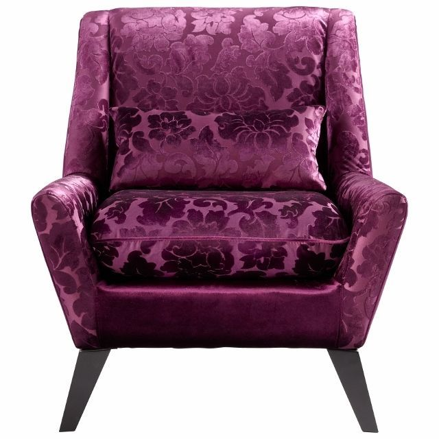 Purple Accent Chairs For Living Room With Armchair Wood Legs
