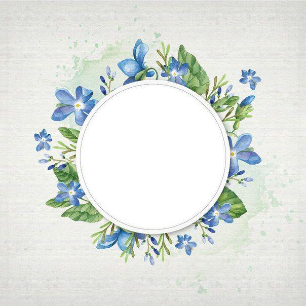 Cvetochnye Ramochki Gift Tag Template Flower Border Frame Wreath