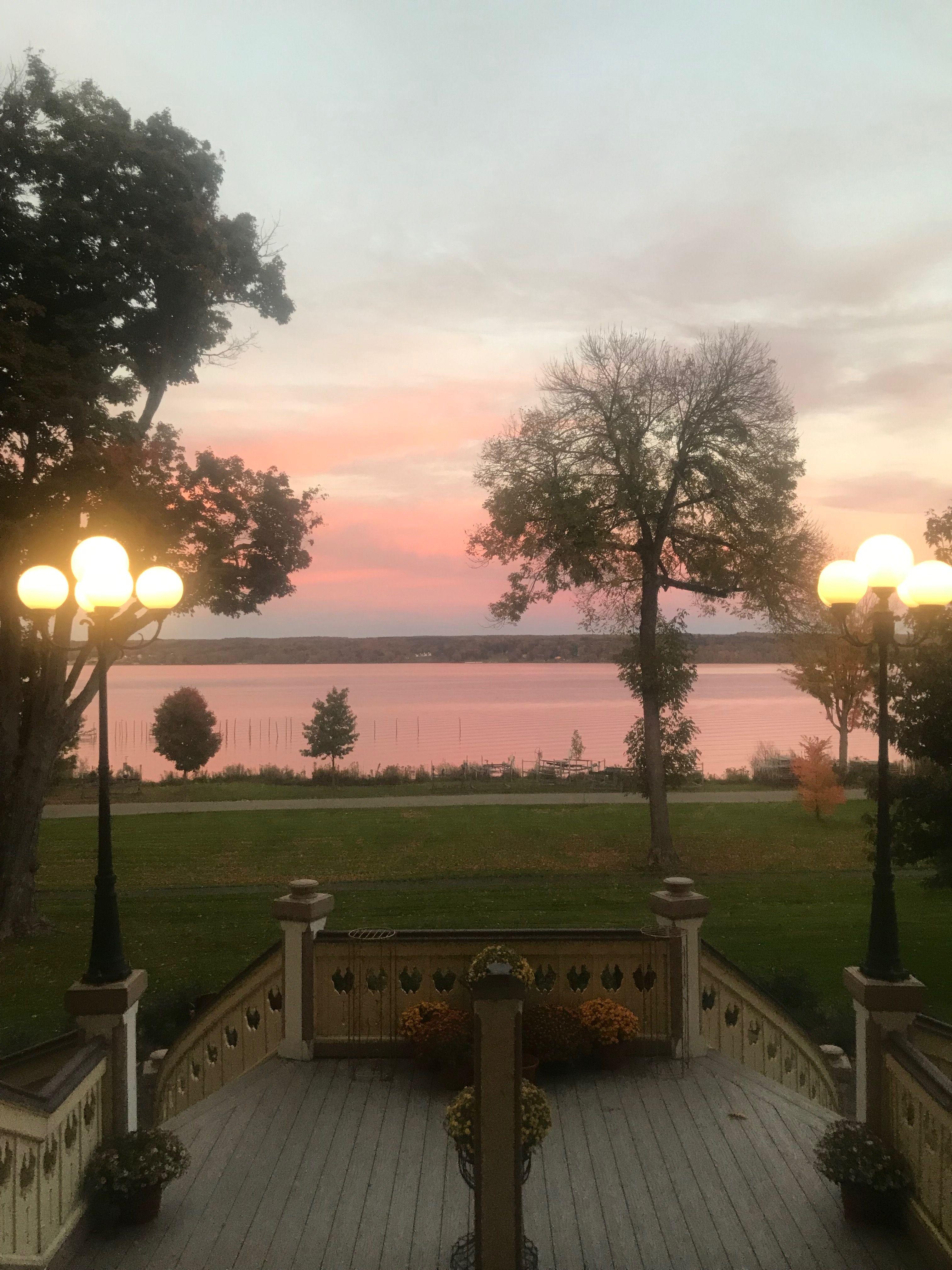 Chautauqua lake from the athenaeum hotel porch