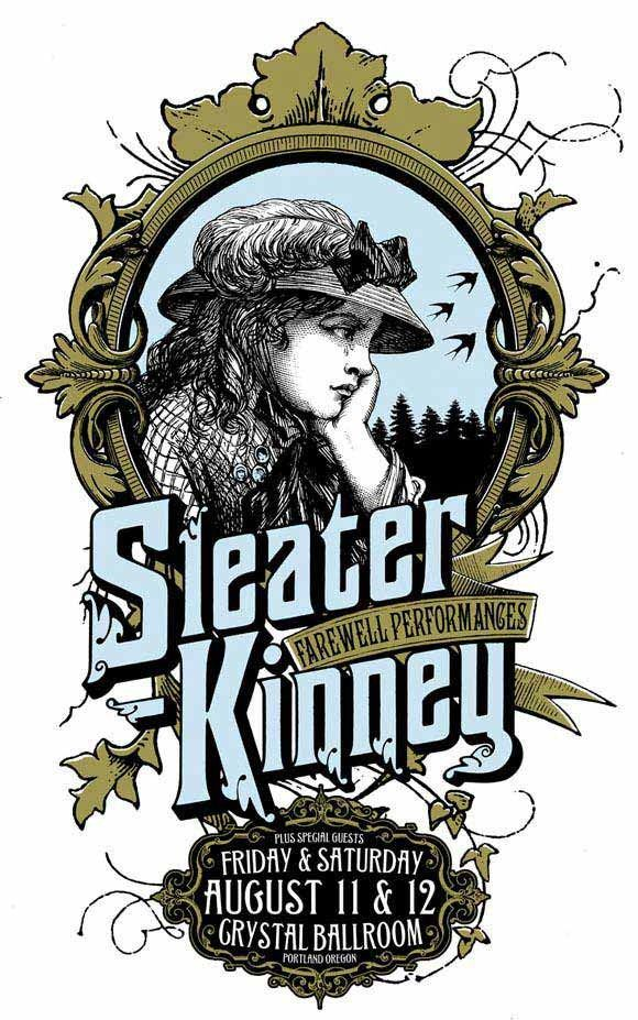 sleater kinney band poster sleater kinney music posters
