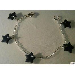 BRACELET ETOILES NOIRES. Pour en savoir plus cliquez ci-dessous : http://www.zoco.fr/fr/bijouterie/61-bracelet-etoiles-noires.html