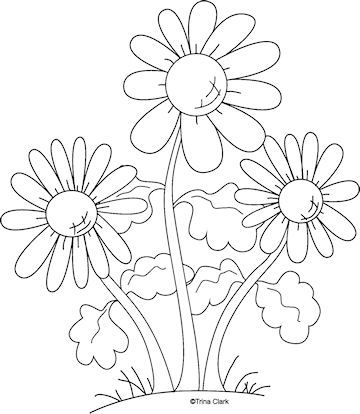 Mothers Flowers 1a Country Line Art Pattern : Country
