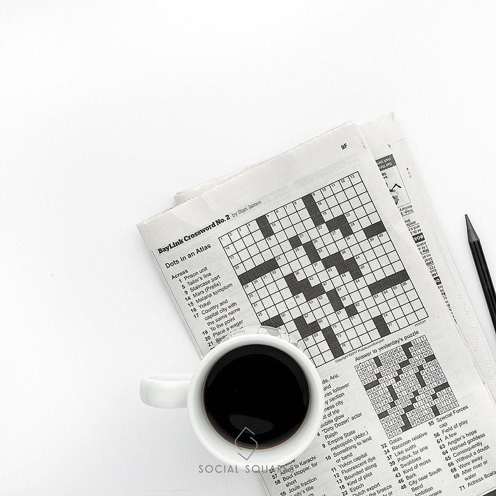 """Happy """"Crossword Puzzle Day""""! Do you do your crosswords in"""