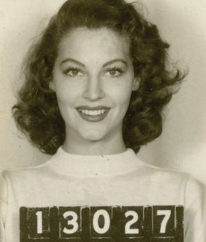 Ava Gardner's mugshot for MGM