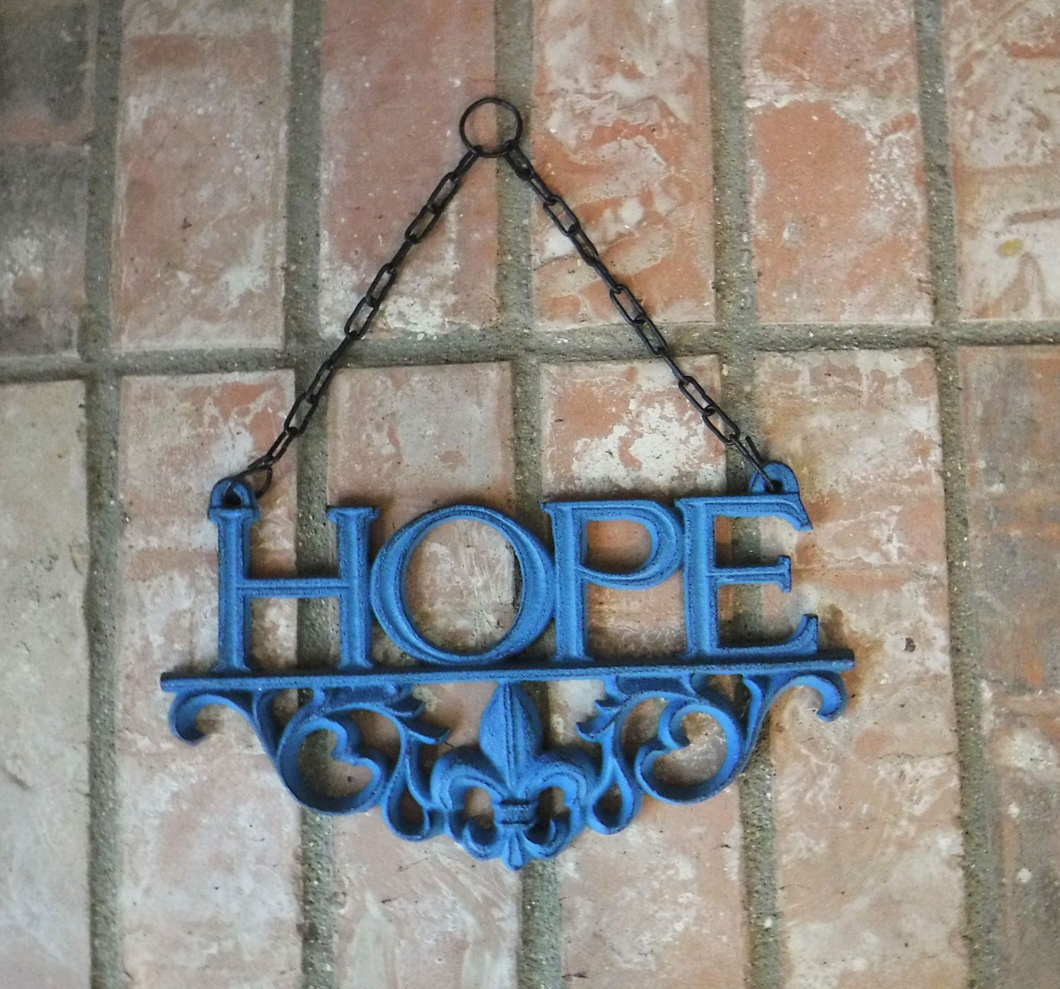 Hope cast iron hope sign rustic blue hope wall decor hope hope cast iron hope sign rustic blue hope wall decor hope gallery wall amipublicfo Image collections