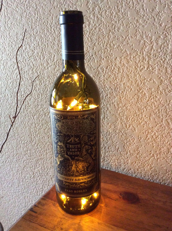 Cabernet Sauvignon Bottle Light Alcohol Recycled Man Cave Bar Wine G Pinterest Lights And