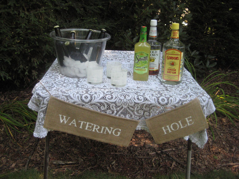 Burlap Banner Rustic Wedding Decor Watering Hole. $16.95 ... - photo#22