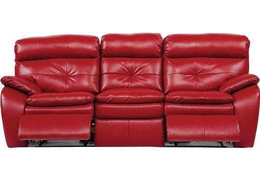 Pleasant Bristol Bay Red Blended Leather Reclining Sofa Remodeling Short Links Chair Design For Home Short Linksinfo