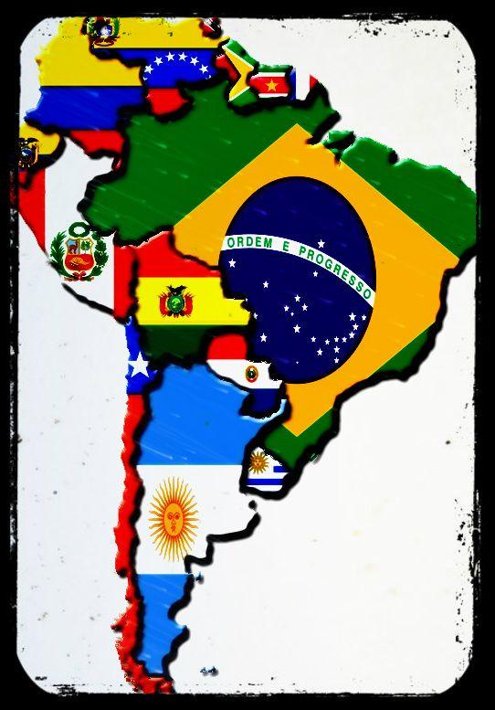 América Del Sur Mapa De America Del Sur Geografía Para Niños Banderas Del Mundo