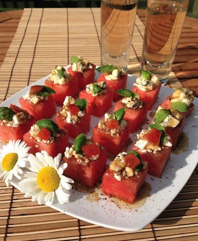 Balsamic Melon Bites