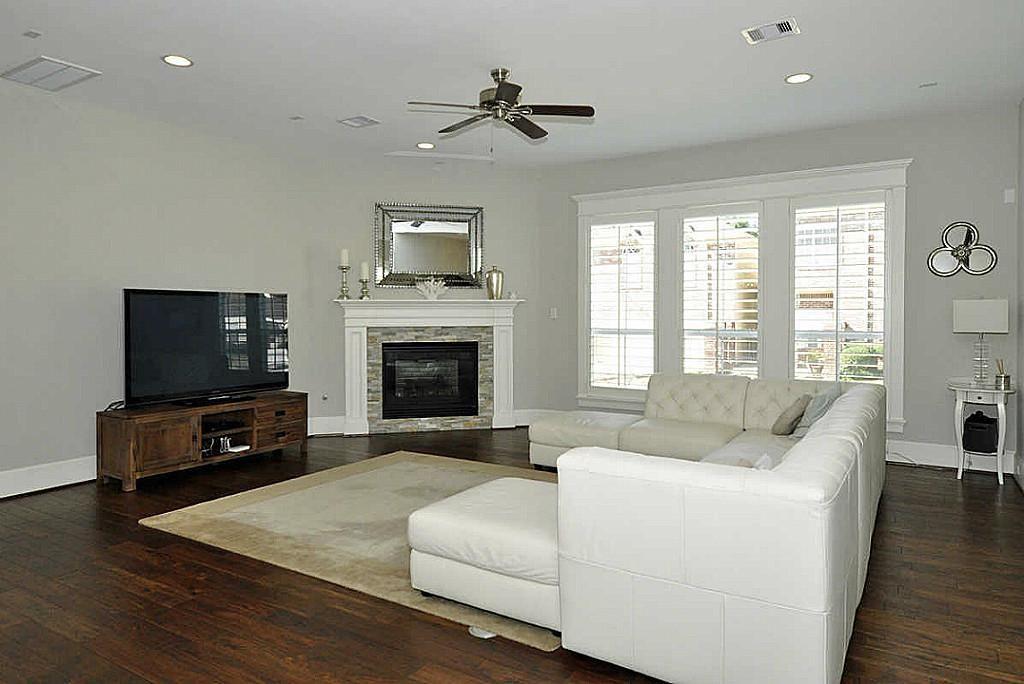 Gray w/white trim. | Home fireplace, Corner gas fireplace ...