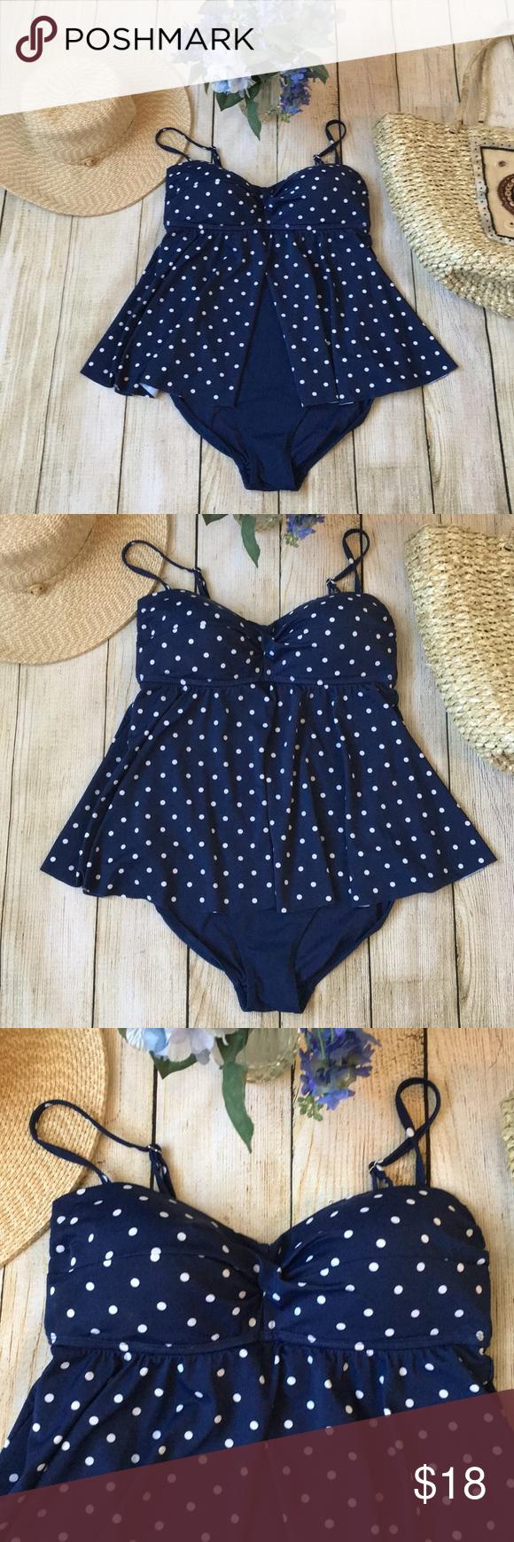 Tropical Escape Womens Black White Polka Dot 1 Piece Swimming Suit Single Strap Bathing Dress 18