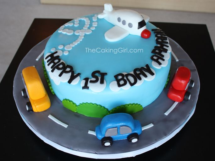 Car and Airplane Cake! by TheCakingGirl.com