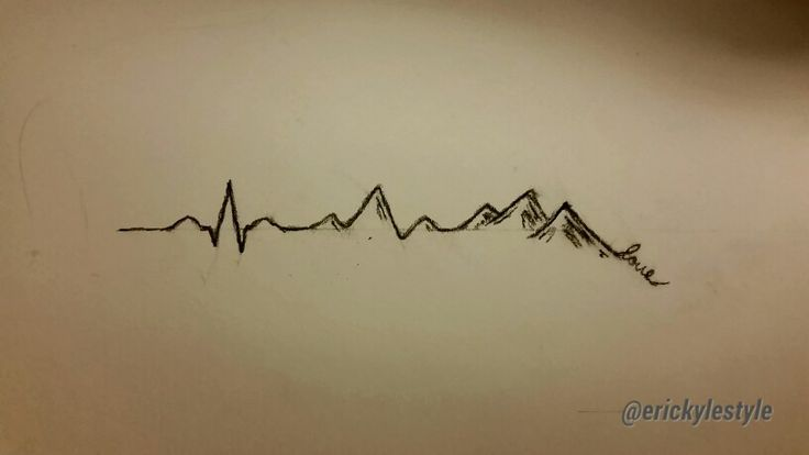 Heartbeat Line Art : Love the heartbeat into mountains combines my for anatomy